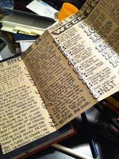 Fold out list from my art journal, via Flickr.