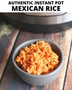 This 15 minute Instant Pot Mexican Rice is the perfect side dish! Only fifteen minutes.start to finish and your meal is complete. Mexican Rice Recipes, Rice Recipes For Dinner, Instant Pot Dinner Recipes, Mexican Dishes, Side Dish Recipes, Dessert Recipes, Authentic Mexican Rice, Best Instant Pot Recipe, Pressure Cooker Recipes