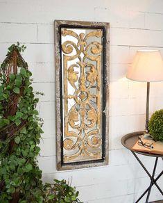Specchio pannello legno intarsiato Applique, Mirror, Vintage, Furniture, Home Decor, Decoration Home, Room Decor, Mirrors, Home Furniture