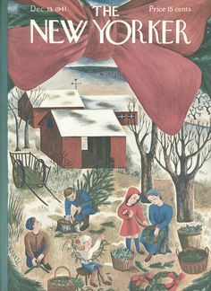 The New Yorker - Saturday, December 13, 1941 - Issue # 878 - Vol. 17 - N° 44 - Cover by : Ilonka Karasz