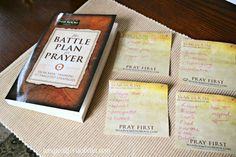 The battle plan for prayer book,sticky notes for my war room
