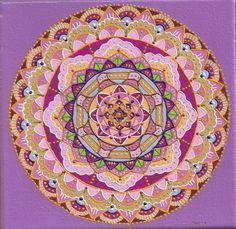 Mandala Pintura acrílica e dimensional