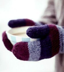 Free Mitten Pattern - use any worsted weight yarn. Written for DPNs but could be adapted for magic loop or 2 circulars.
