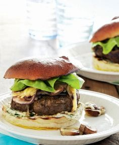 Burgers with French Onions