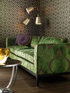 Beautiful green couch...