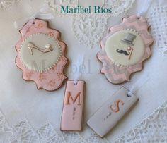 cookies de jengibre y royal icing detalles para boda