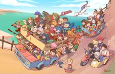 "nyanlatte: I made something for fun and ended up raging. It's called ""Road Trip"". DLC characters were an afterthought."