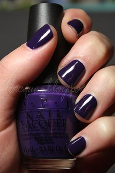 Love this color for fall! OPI: Sapphire in the snow