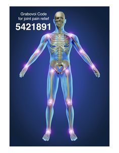 Grabovoi Code for Joint Pain 5421891.  Write code where affected joint is.
