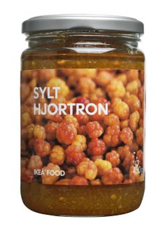 SYLT HJORTRON - Cloudberry jam. Their rarity makes cloudberries a delicacy. These berries are hand-picked. Serve with waffles or pancakes. Add whipped cream and/or vanilla ice cream.