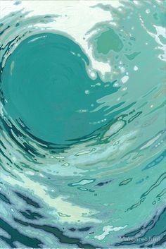 """Spinning Blue Ocean Wave Margaret Juul"" Canvas Prints by MargaretJuul | Redbubble"