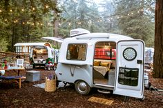 Camping enthusiasts adore a vintage camper. The site of a teardrop trailer or Airstream conjures up the nostalgia of camping in the woods and listening to stories told by parents or grandparents around a dancing Scamp Camper, Scamp Trailer, Tiny Camper, Small Campers, Cool Campers, Little Campers, Camper Life, Happy Campers, Happier Camper