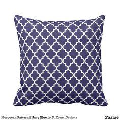 Moroccan Pattern   Navy Blue