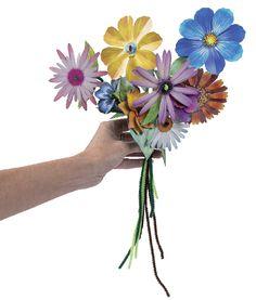 Bouquets de fleurs en papier