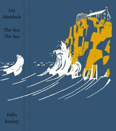 Forgot to post the binding design. Illustration for 'The Sea The Sea' by Iris Murdoch published by The Folio Society. (The book is out of print) #illustration #illustrator #tatsurokiuchi #art #drawing #England #UK #life #lifestyle #happy #japan #people #木内達朗 #イラスト #イラストレーション