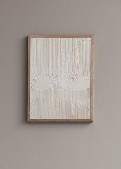 Wall of Art - Konstnärligt Art Print av Ida Vikfors - Mönster Textured Canvas Art, Diy Canvas Art, Diy Wall Art, Diy Art, Wall Art Decor, Wall Art Prints, Neutral Art, Texture Art, White Art