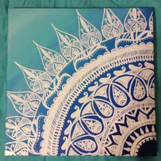 Henna Style Ombré Canvas Painting by ArtsAndPaper on Etsy