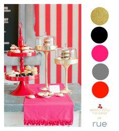 decoracao-festa-cores-pink-preto-dourado-2.jpg 590×650 pixels