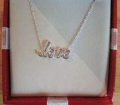 "Giani Bernini~Sterling Silver~Love Pendant~Boxed~18"" Chain Link Necklace~$100 #GianiBernini #Pendant"