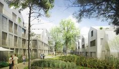 Urban Village, Construction, Sustainability, Perspective, Street View, Paris, Mansions, House Styles, Aged Care