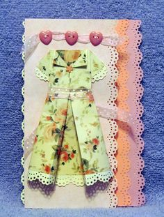 Origami Dress with lace.