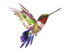 Hummingbird Painting by Suren Nersisyan