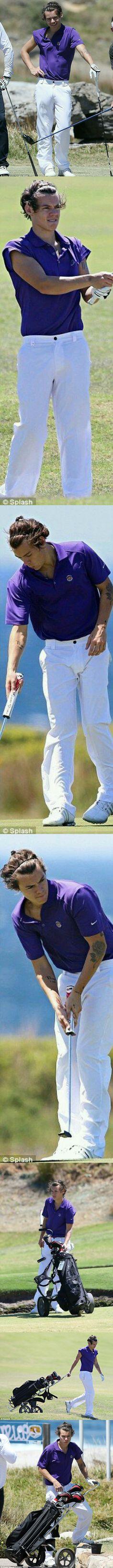Harry Styles ❥ golfing part 2