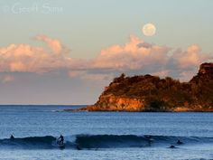 Moonrise Surfing at Manly