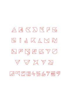 Origami Font by Mark Kay, via Behance