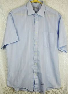 Nautica Mens Vintage Oxford Long Sleeve Dress Shirt Tan//Brown Size 16 34//35