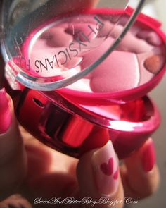 Physicians Formula Happy Booster Glow with heart nails. #PFBeautyBuzz