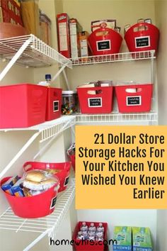 Here are 21 organization ideas to organize your whole kitchen with a single trip to the dollar store! These Dollar Store organization ideas will declutter your kitchen, increase storage space, keep everything perfectly organized and will save you lots of money! How to organize under the kitchen sink, kitchen cabinet, pantry, countertop, fridge are included! Visit the post to learn how! #homewhis #dollarstore #dollarstoreorganization #kitchenorganization #cabinetorganization Chest Freezer Organization, Under Kitchen Sink Organization, Countertop Organization, Office Organization, Organizing Ideas, Organizing Life, Under Kitchen Sinks, Cutting Board Storage, Sink Organizer