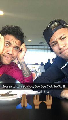 Neymar and Dani Alves via snapshot Neymar Jr, Love You Babe, My Love, Dani Alves, Good Soccer Players, World Cup 2014, Best Player, Psg, Fc Barcelona