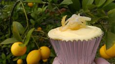 Candied Lemon Peel cupcakes. Tutorial for candied citrus peel here; https://www.youtube.com/watch?v=K_Nz_ahS4ag
