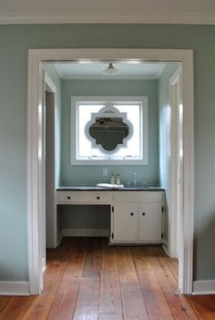 If you've got a difficult bathroom space with windows over your sink, rather than the traditional mirror, take a cue from the team over at Young House Love and hang a mirror in front of that window.