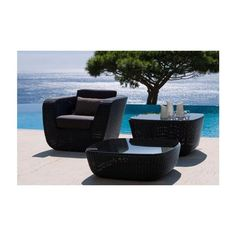 Savannah Outdoor Patio Chair Set by Cane-line from Jardin de Ville