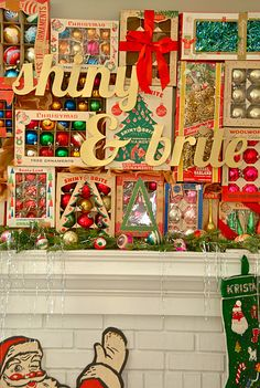 Blue Eyed Yonder Shiny+Brite Christmas | Vintage Event Rentals ~ Atlanta, Georgia
