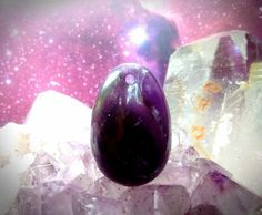 Small Drilled Amethyst Yoni Egg SDA4 by TheWomanWhole on Etsy