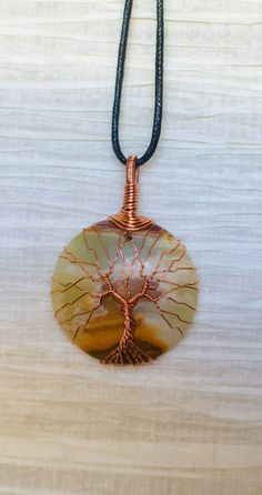 Copper Wire Wrapped Tree of Life wire by RecycledBeautifully, $32.00