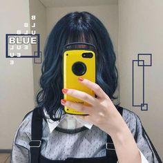 Hair Dye Colors, Ombre Hair Color, Korean Hair Color, Denim Hair, Dark Blue Hair, Dye My Hair, Aesthetic Hair, Grunge Hair, Hair Looks