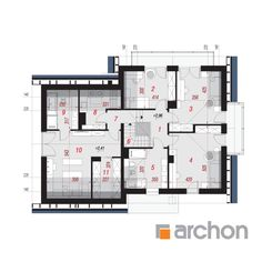Dom w tamaryszkach 2 New Homes, Floor Plans, How To Plan, House Styles, Home Decor, Trendy Tree, Houses, New Home Essentials, Interior Design