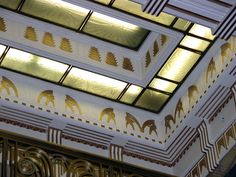 A detail of Ceiling inside of Carbide and Carbon Building, Chicago