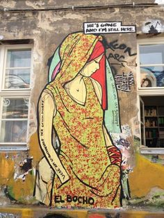 Street art in Berlin, by El Bocho