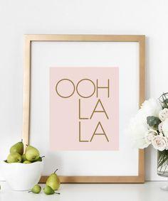 OOH LA LA Print | Typography | Artwork