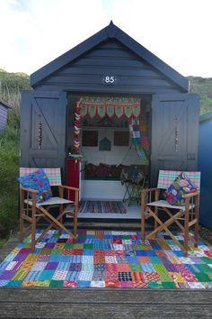 Hearts of Hampshire Beach Hut Shed, Beach Hut Decor, Tiny Beach House, Beach Huts, She Shed Interior Ideas, Beach Hut Interior, Boys Den, British Beaches, Shed Cabin