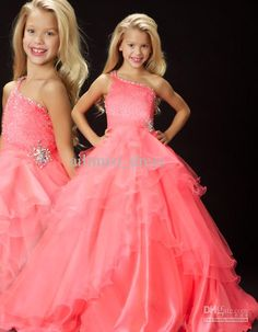 Wholesale 2013 New Beaded One Shoulder Princess Ball Gown Little Girls Kids Pageant Dress Flower Girl Dress, Free shipping, $70.85-88.5/Piece | DHgate