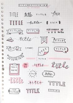 Bullet Journal Setup Ideas {The layouts your BUJO might be missing!} Take your bujo to the next level with these creative Bullet Journal setup ideas (that you can adopt at any time of the year! Bullet Journal Inspo, Organization Bullet Journal, Bullet Journal Headers, Bullet Journal Beginning, Bullet Journal Banner, Bullet Journal Title Fonts, Bullet Font, Bullet Journal Doodles Ideas, Bullet Journal Inspiration Creative