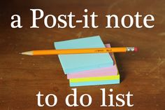 Post-it Note To Do List System