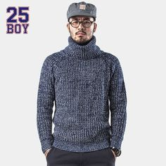 >> Click to Buy << 25BOY HARDLY EVER'S Turtle Neck Sweater Trendy Streetwear #Affiliate
