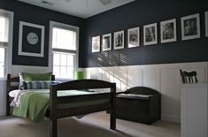 Like the frames and board and batten with dark paint color - Admirality from Lowes